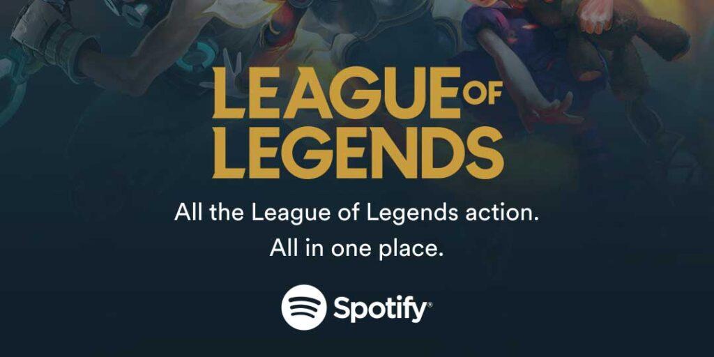 Spotify exclusive League of Legends sound deal