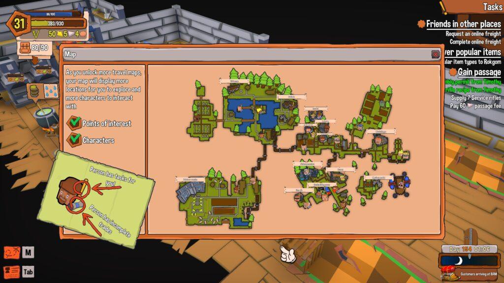 Craftlands workshoppe map
